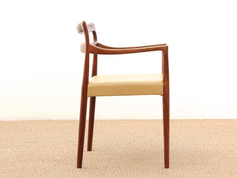 Scandinavian Mid-Century Modern Armchair in Rosewood by Kai Lyngfeldt For Sale