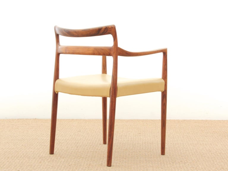 Mid-Century Modern Armchair in Rosewood by Kai Lyngfeldt In Good Condition For Sale In Courbevoie, FR