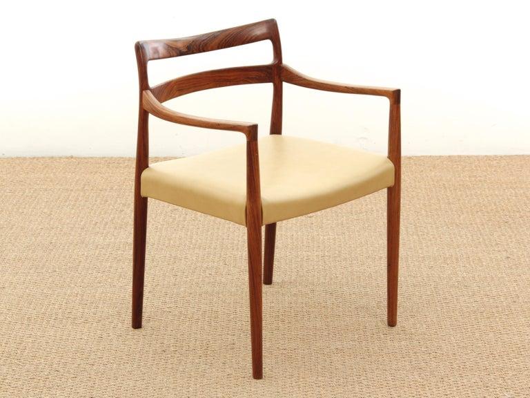 Mid-20th Century Mid-Century Modern Armchair in Rosewood by Kai Lyngfeldt For Sale