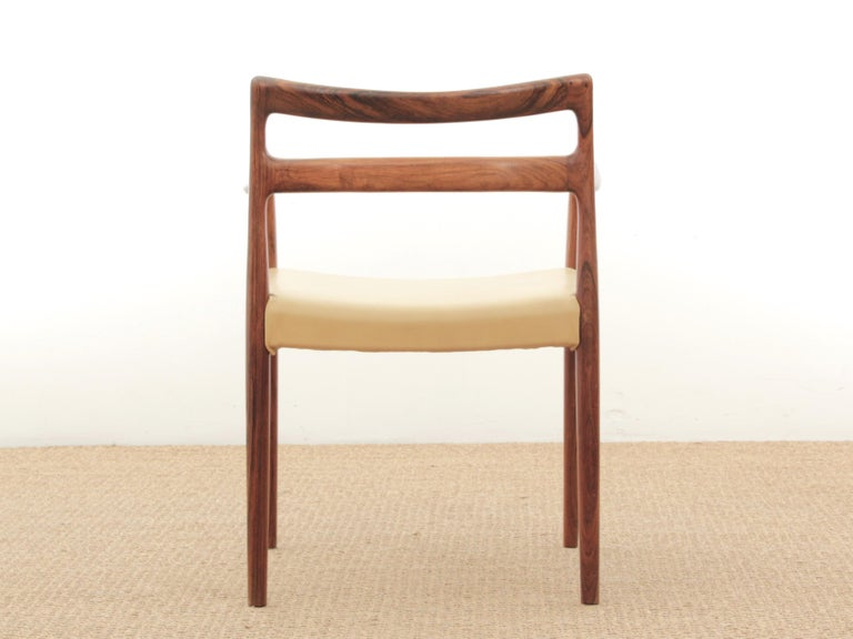 Mid-Century Modern Armchair in Rosewood by Kai Lyngfeldt For Sale 1