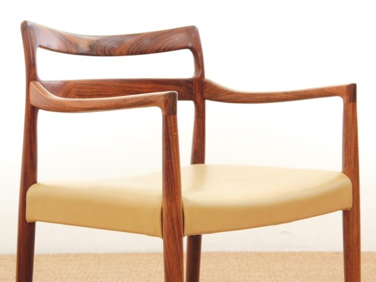 Mid-Century Modern Armchair in Rosewood by Kai Lyngfeldt For Sale 4
