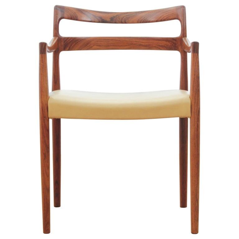 Mid-Century Modern Armchair in Rosewood by Kai Lyngfeldt For Sale