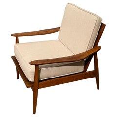 Mid-Century Modern Armchair W New Seat & Back Cushions