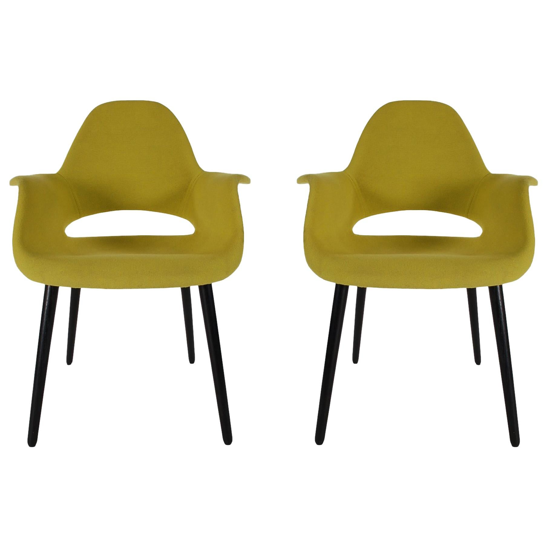 Mid-Century Modern Armchairs or Dining Chairs by Eames and Saarinen for Vitra