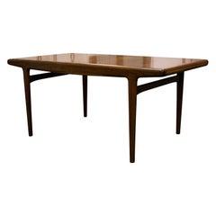 Mid-Century Modern Arne Hovmand-Olsen Teak Dining Table, Denmark, 1950