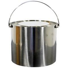 Mid-Century Modern Arne Jacobsen for Stelton Steel Ice Bucket, 1970s, Denmark