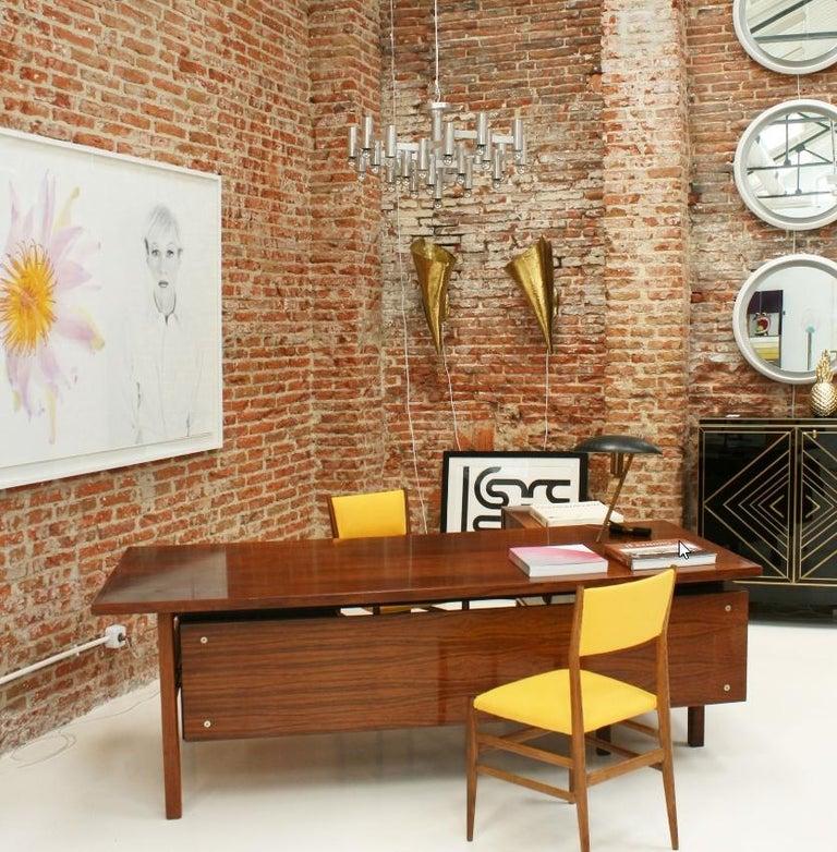 Mid-Century Modern Arne Vodder Rosewood L-Shape Danish Executive Desk For Sale 6