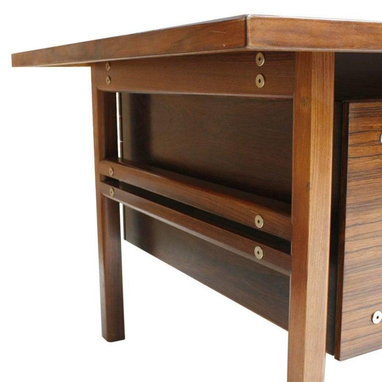Mid-20th Century Mid-Century Modern Arne Vodder Rosewood L-Shape Danish Executive Desk For Sale