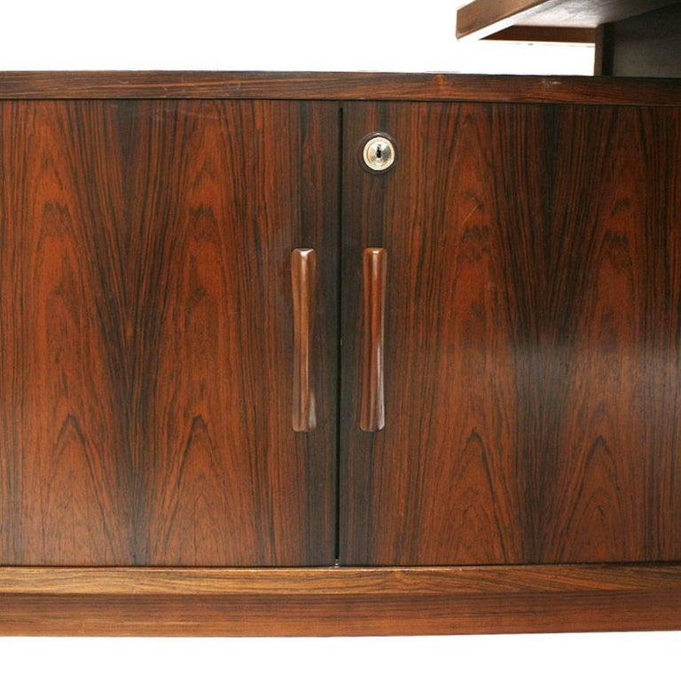 Mid-Century Modern Arne Vodder Rosewood L-Shape Danish Executive Desk For Sale 2