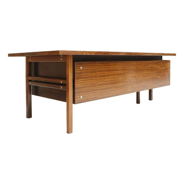 Mid-Century Modern Arne Vodder Rosewood L-Shape Danish Executive Desk In Good Condition For Sale In Madrid, ES