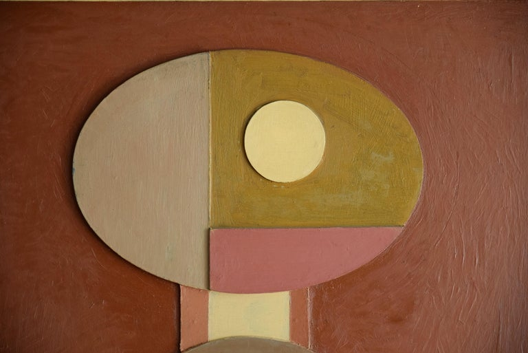 Unique Mid-Century Modern work of Art by the Dutch artist Willem Brunet de Rochebrune 1905-1990. Willem Brunet de Rochebrune was autodidactic in the field of visual arts. He completed a doctoral study, and was promoted to a doctor in medicine. The