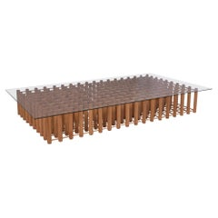 Mid-Century Modern Arts & Crafts Low Coffee Table