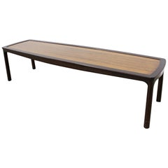 Mid-Century Modern Asian Edward Wormley for Dunbar Long Rosewood Coffee Table