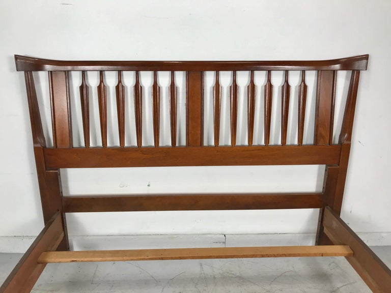Woodwork Mid-Century Modern, Asian Inspired Full Bed, After Kipp Stewart For Sale