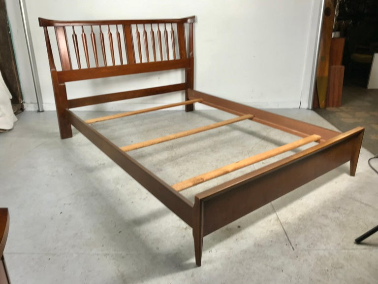 Mid-20th Century Mid-Century Modern, Asian Inspired Full Bed, After Kipp Stewart For Sale