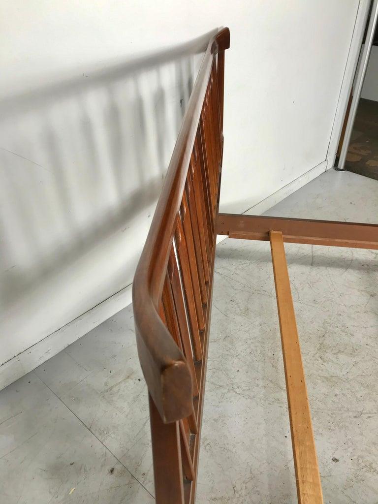 Walnut Mid-Century Modern, Asian Inspired Full Bed, After Kipp Stewart For Sale