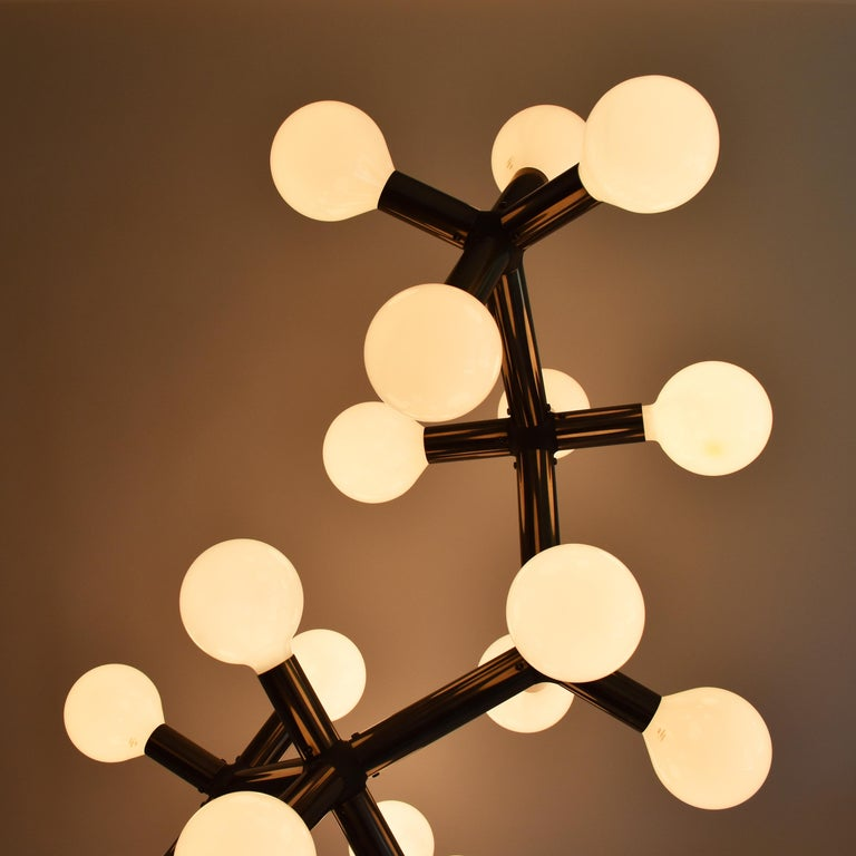 Bronzed Mid-Century Modern Atomic Floor Lamp by Trix & Robert Haussmann for Swisslamps For Sale