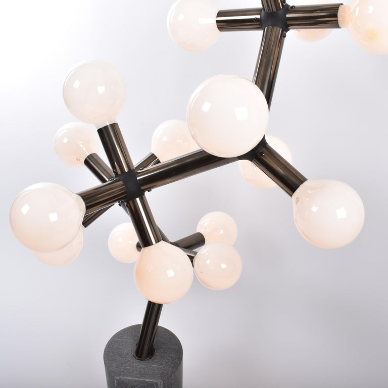 Mid-Century Modern Atomic Floor Lamp by Trix & Robert Haussmann for Swisslamps In Good Condition For Sale In Le Grand-Saconnex, CH