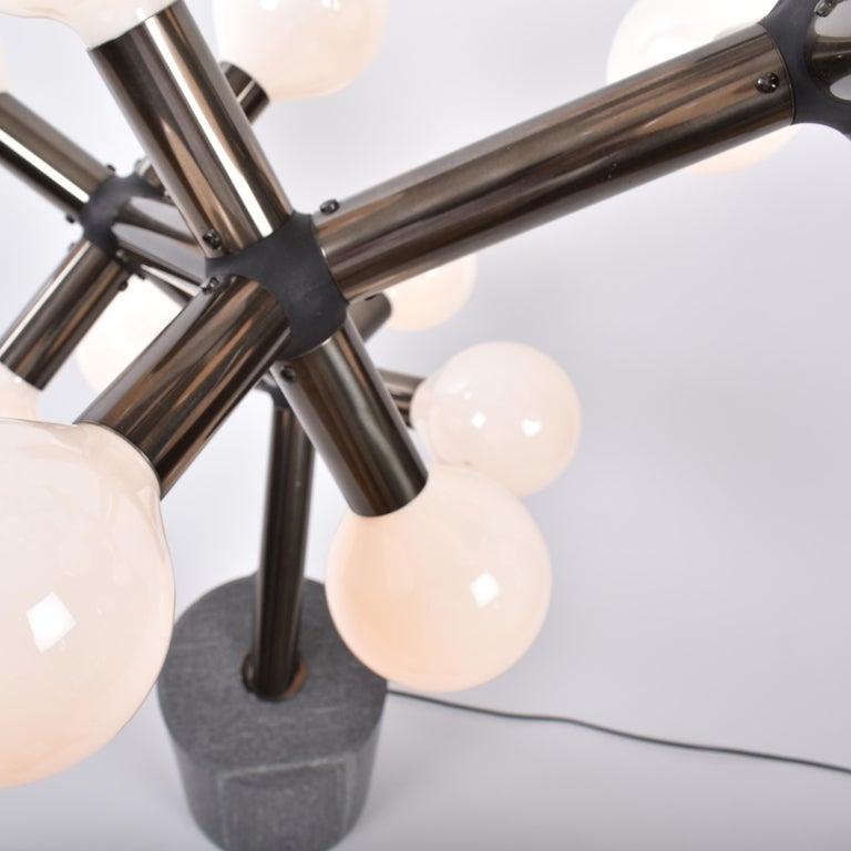Aluminum Mid-Century Modern Atomic Floor Lamp by Trix & Robert Haussmann for Swisslamps For Sale