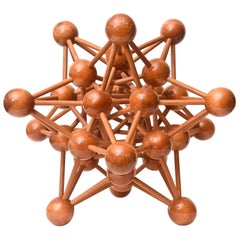 Mid-Century Modern Atomic Wood Sculpture