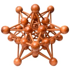 Mid-Century Modern Atomic Wood Sculpture
