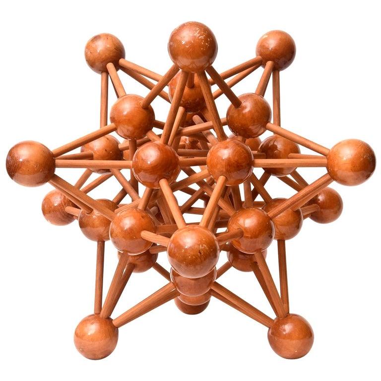 Mid-Century Modern Atomic Wood Sculpture For Sale