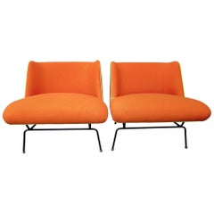 Mid-Century Modern Attributed to Clifford Pascoe Chairs with New Knoll Fabric