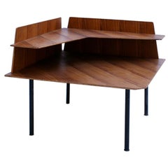 Mid-Century Modern Attributed to Gio Ponti Rosewood Side Table, Italy, 1950s