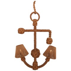 Mid-Century Modern Audoux Minet 'Anchor' Sconce in Rope