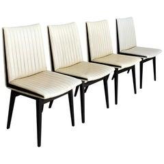 Mid-Century Modern Austrian Dining Chairs Designed by Oskar Riedel Wien, 1955