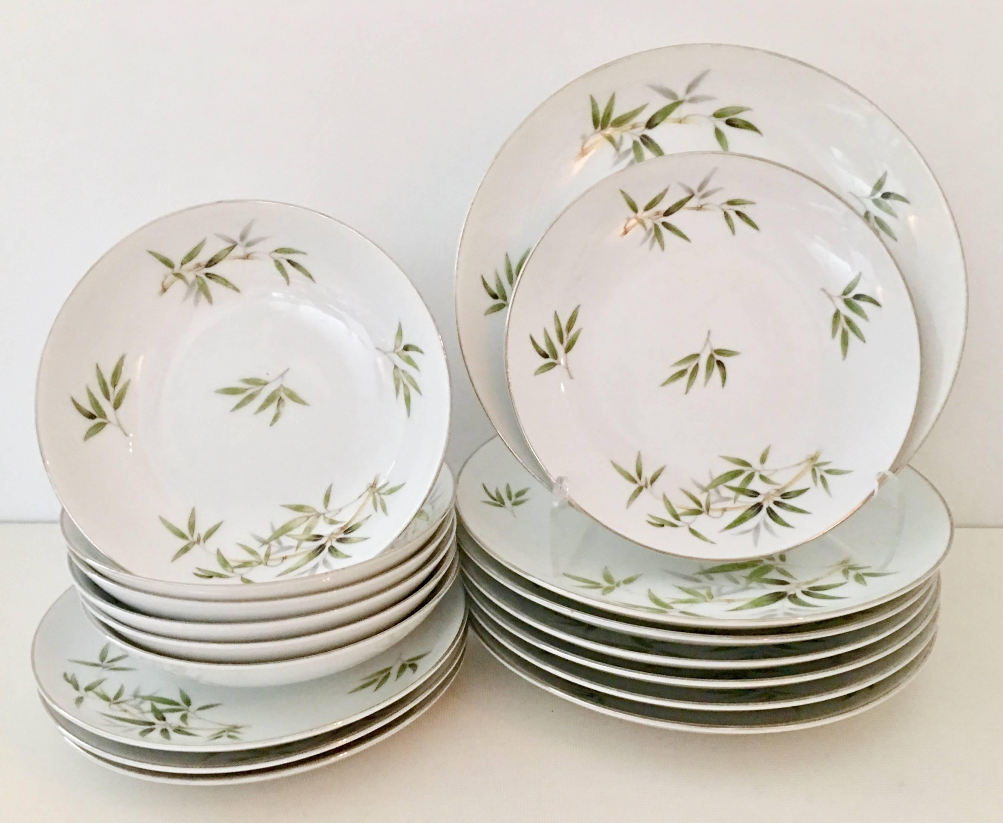 Mid-Century Modern Japanese dinnerware \ Bamboo\  and platinum set of 17 pieces by  sc 1 st  1stDibs & Mid-Century Modern \