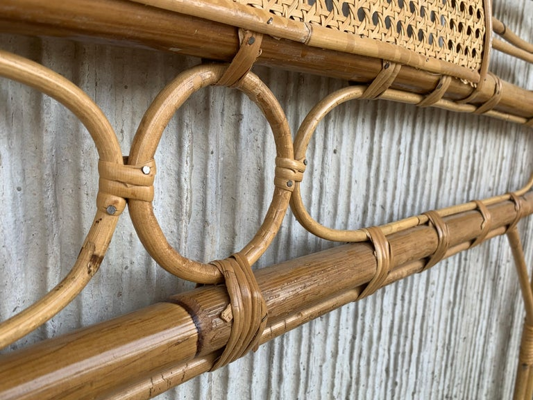 Mid-Century Modern Bamboo and Bentwood Headboard For Sale 10