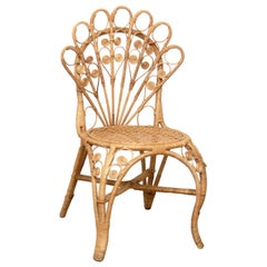 Mid-Century Modern Bamboo and Rattan Chair, circa 1960