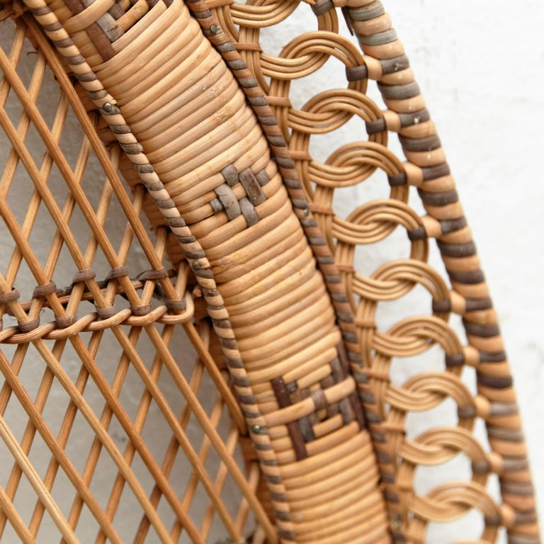 Mid-Century Modern Bamboo and Rattan Headboard Handcrafted French Riviera, 1960 For Sale 5
