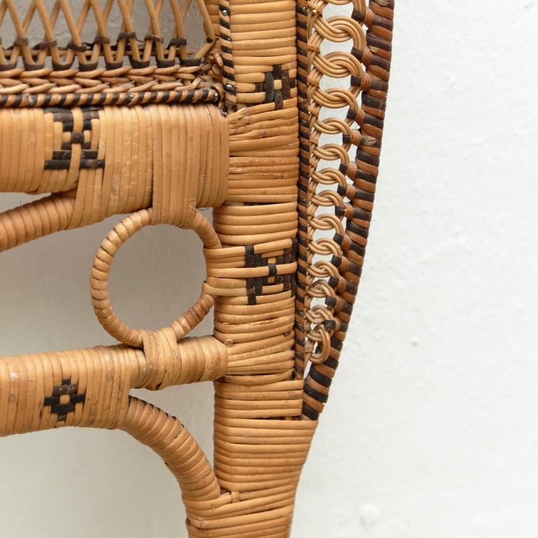 Mid-Century Modern Bamboo and Rattan Headboard Handcrafted French Riviera, 1960 For Sale 2