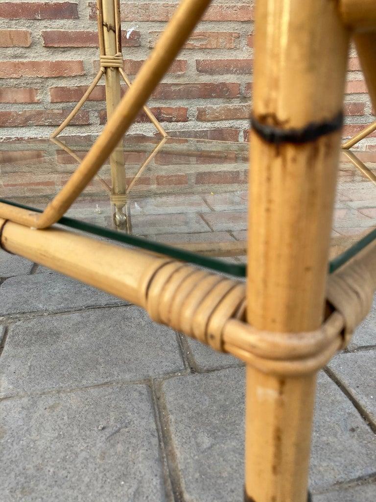 Mid-Century Modern Bamboo Tea Cart, Garden Furniture For Sale 5