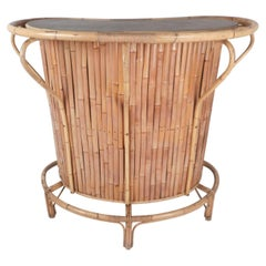 Mid-Century Modern Bamboo Tiki Bar