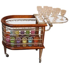Mid-Century Modern Bar Cart, Louis Sognot, France, 1960's