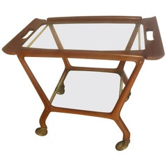 Mid-Century Modern Bar Cart Serving Table, Cesare Lacca, 1960