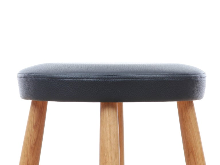 Late 20th Century Mid-Century Modern Bar Stool CH 56 by Hans Wegner, New Edition For Sale