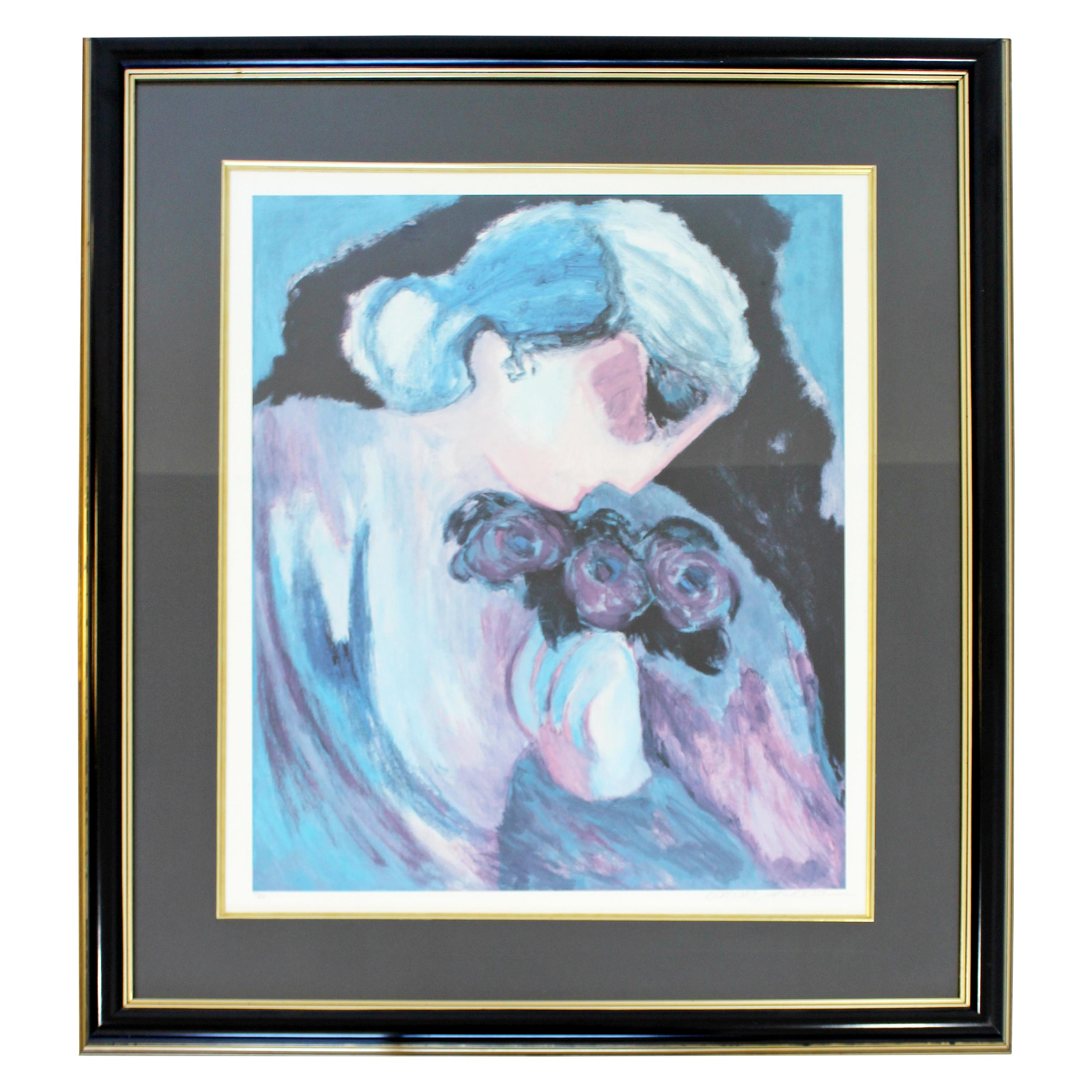 Mid-Century Modern Barbara a. Wood Framed Signed Lithograph 561/965