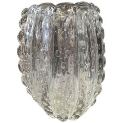 Mid-Century Modern Barovier e Toso Translucent Murano Glass Vase, 1960s