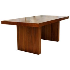 Mid-Century Modern Baughman Dillingham Expandable Walnut Dining Table 1960s