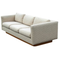 Mid-Century Modern Baughman for Forecast Sofa Wood Plinth Base Dunbar Era