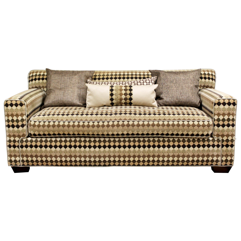 Mid-Century Modern Baughman Style Loveseat Sofa 1970s Lenor Larsen Style