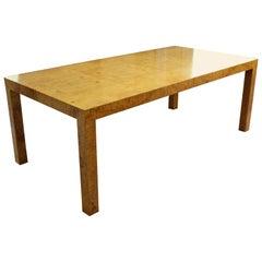 Mid-Century Modern Baughman Thayer Coggin Parson Burl Wood Dining Table, 1960s
