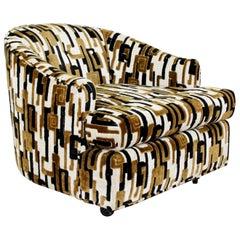 Mid-Century Modern Baughman Tub Lounge Chair Lenor Larsen Fabric 1970s