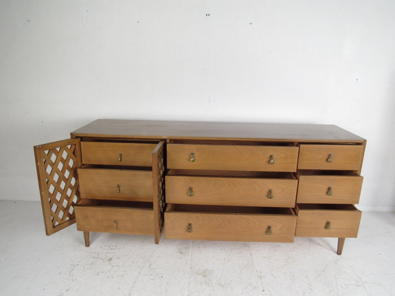 Brass Mid-Century Modern Bedroom Set by Mount Airy For Sale