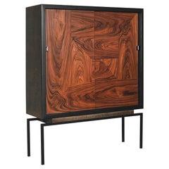Mid-Century Modern Belgian Rosewood Cabinet, 1970s