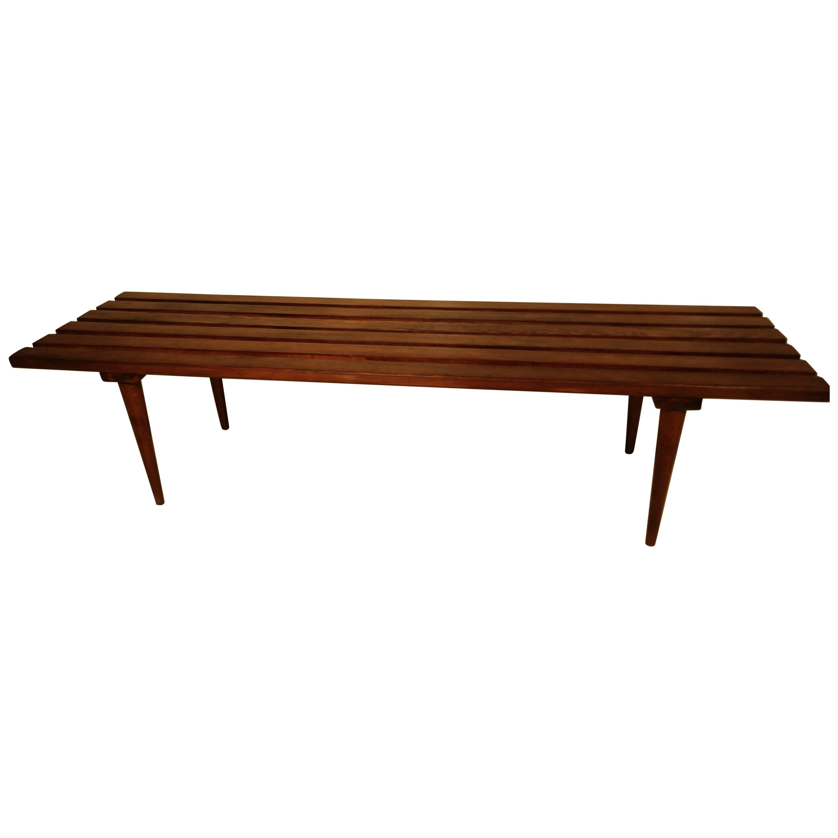 Mid-Century Modern Bench Cocktail Table Style of George Nelson